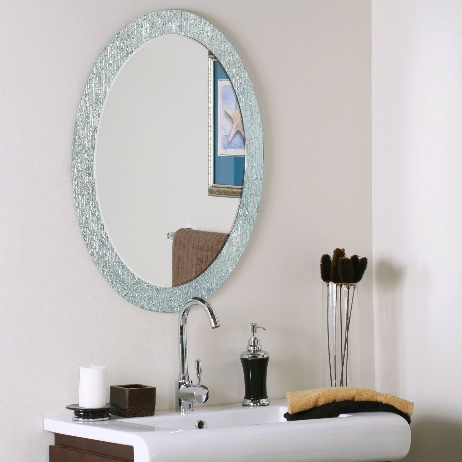 Dã©Cor Wonderland Molten Oval Wall Mirror – 23.5W X (View 9 of 20)
