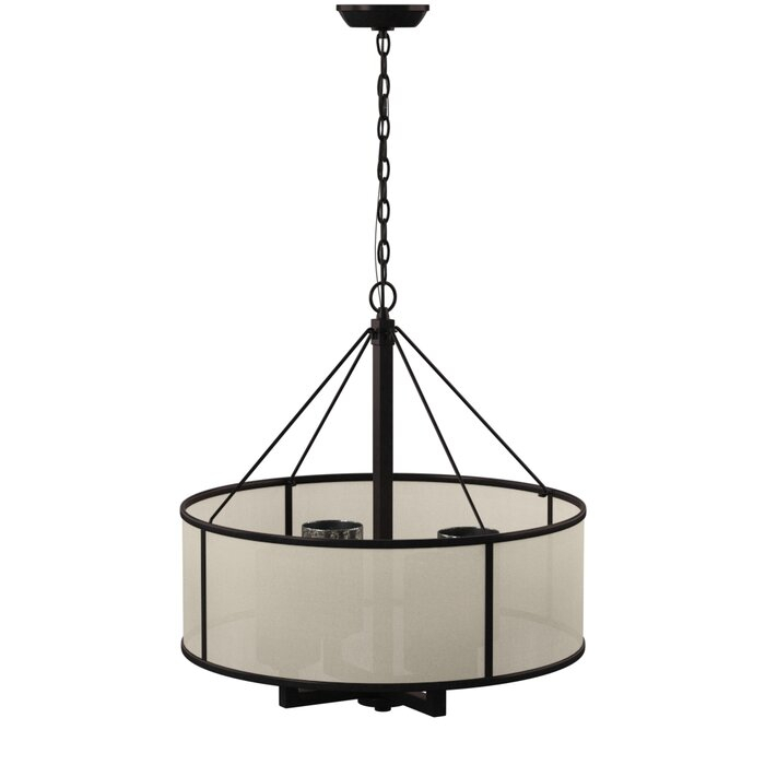 Dailey 4 Light Drum Chandelier Pertaining To Vincent 5 Light Drum Chandeliers (Image 9 of 25)