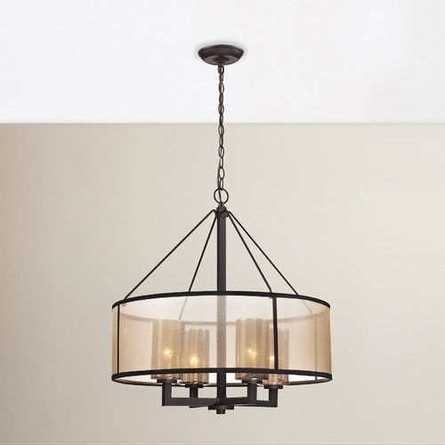 Dailey 4 Light Drum Chandelier | Westlawn Home | Chandelier Throughout Dailey 4 Light Drum Chandeliers (Image 6 of 20)