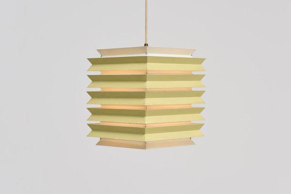 Danish Square Pendant Lamp From Lyfa, 1960S With Regard To William 4 Light Lantern Square / Rectangle Pendants (Image 1 of 25)
