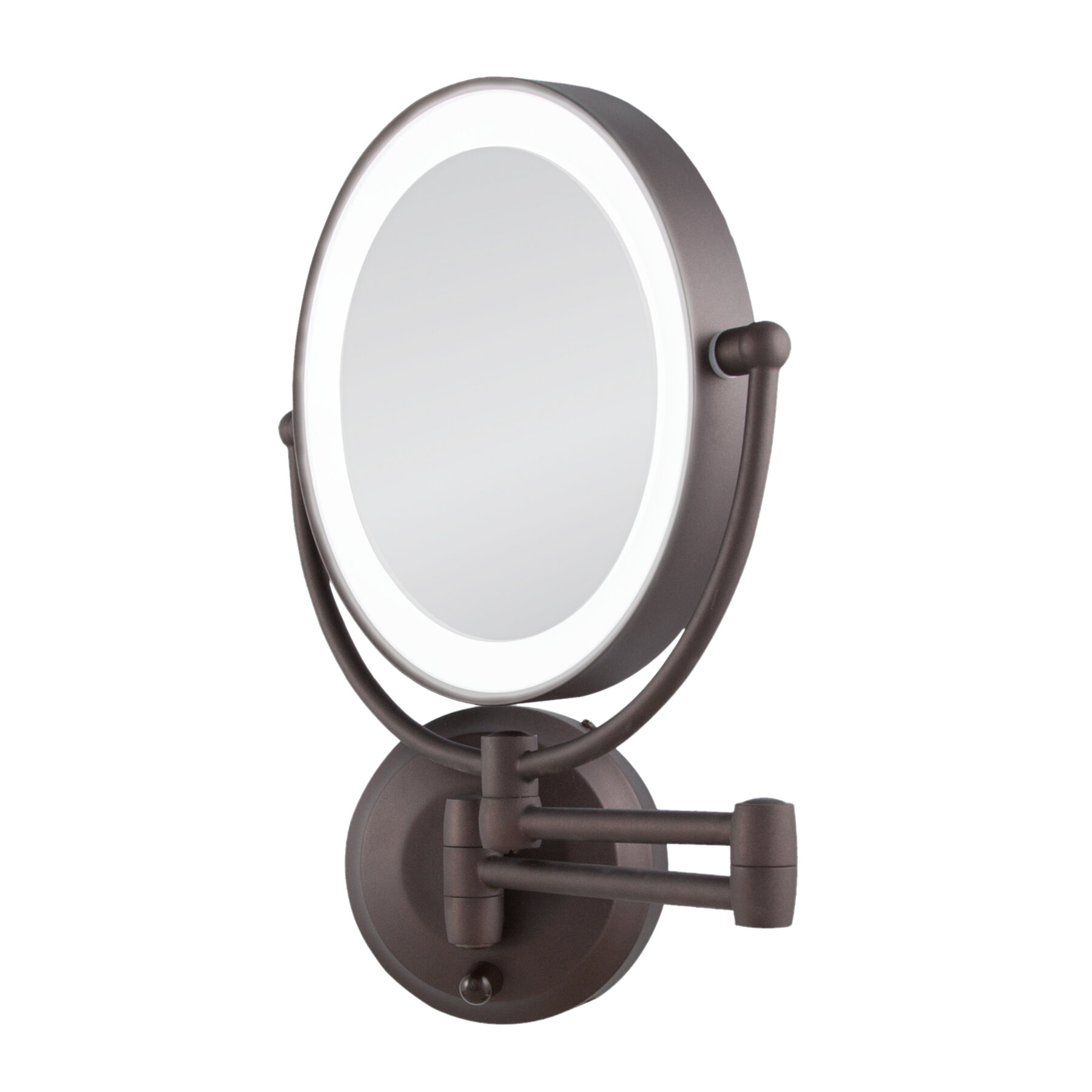Darby Home Co Aldona Modern & Contemporary Makeup/shaving Mirror Within Harbert Modern And Contemporary Distressed Accent Mirrors (Image 3 of 20)