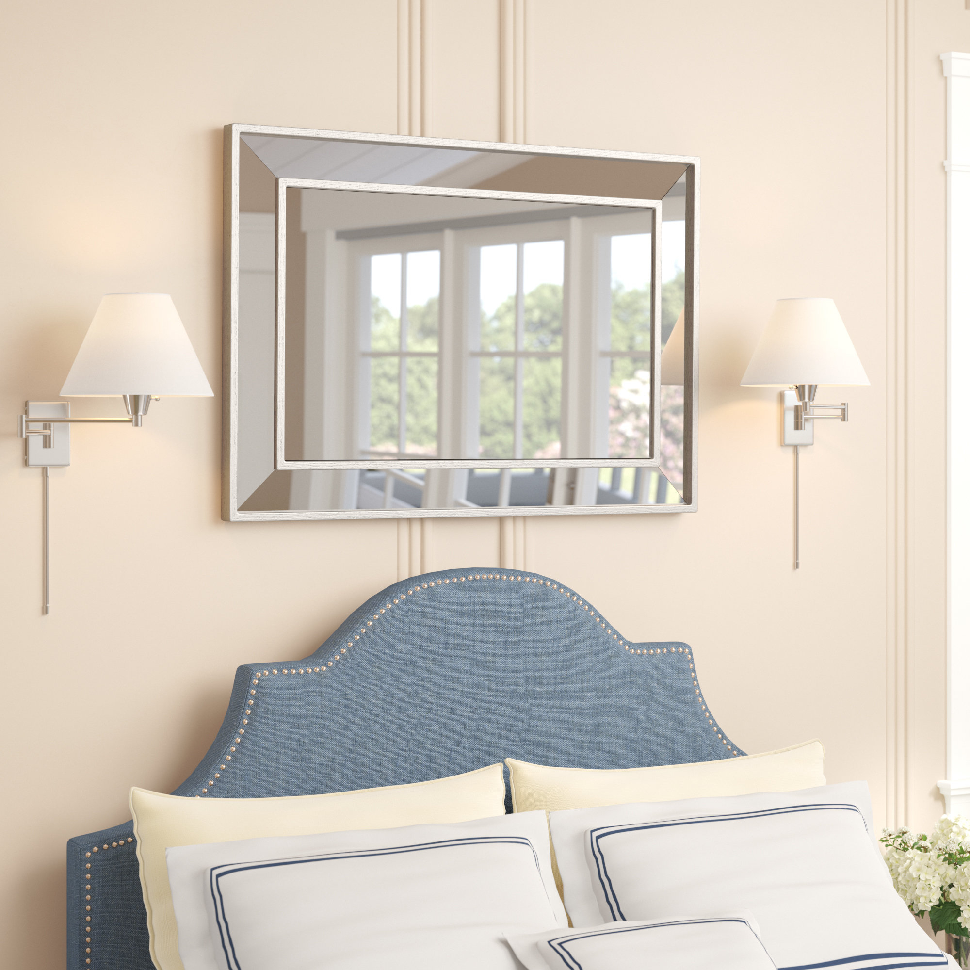 Darby Home Co Tutuala Traditional Beveled Wall Mirror Pertaining To Tutuala Traditional Beveled Accent Mirrors (View 4 of 20)