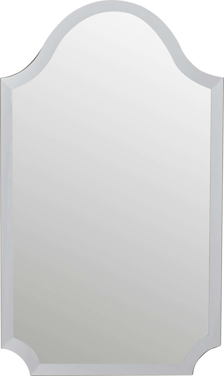 Dariel Tall Arched Scalloped Wall Mirror Pertaining To Dariel Tall Arched Scalloped Wall Mirrors (Photo 3 of 20)