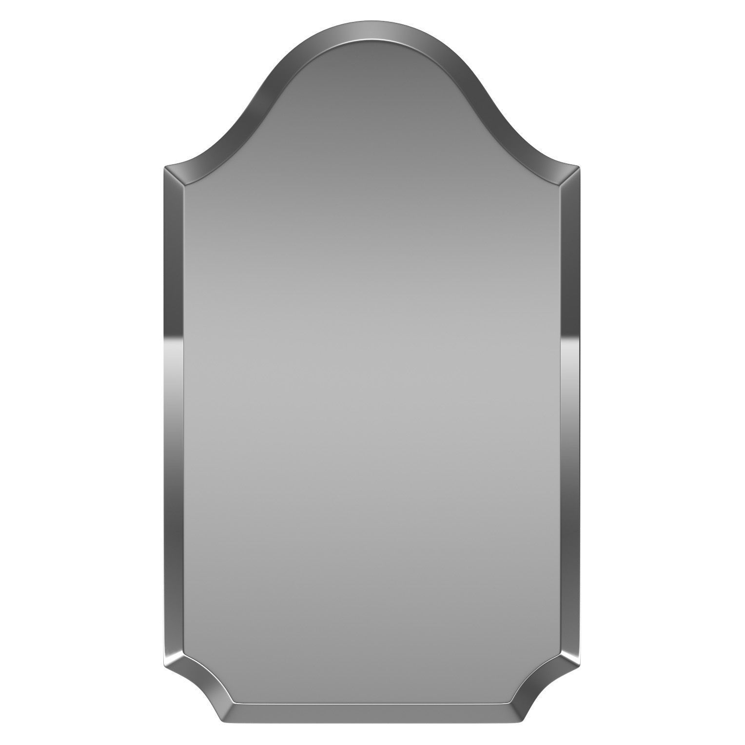 Dariel Tall Arched Scalloped Wall Mirror Wrlo6854 | 3D Model Throughout Dariel Tall Arched Scalloped Wall Mirrors (Photo 4 of 20)