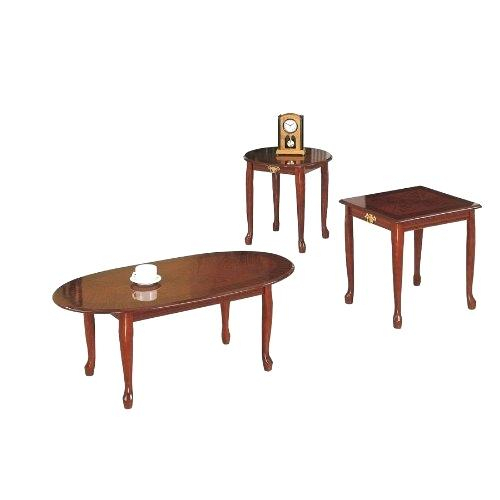 Dark Cherry Coffee Table – Buyfla With Regard To Furniture Of America Crescent Dark Cherry Glass Top Oval Coffee Tables (Image 8 of 50)