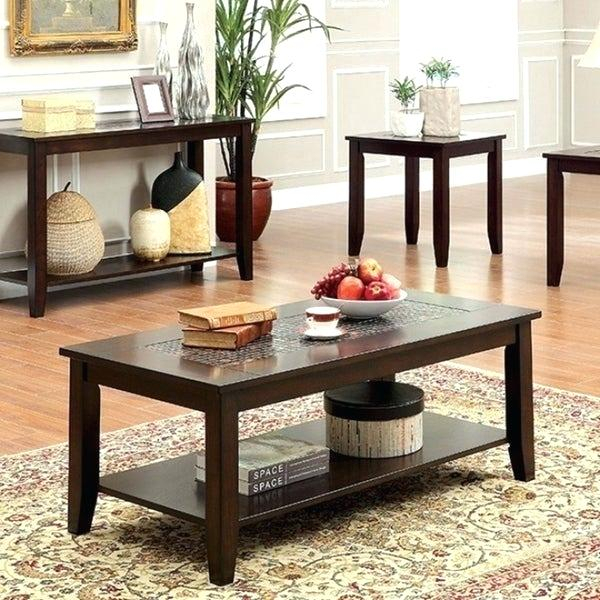 Dark Cherry Coffee Table In Furniture Of America Crescent Dark Cherry Glass Top Oval Coffee Tables (Image 17 of 50)