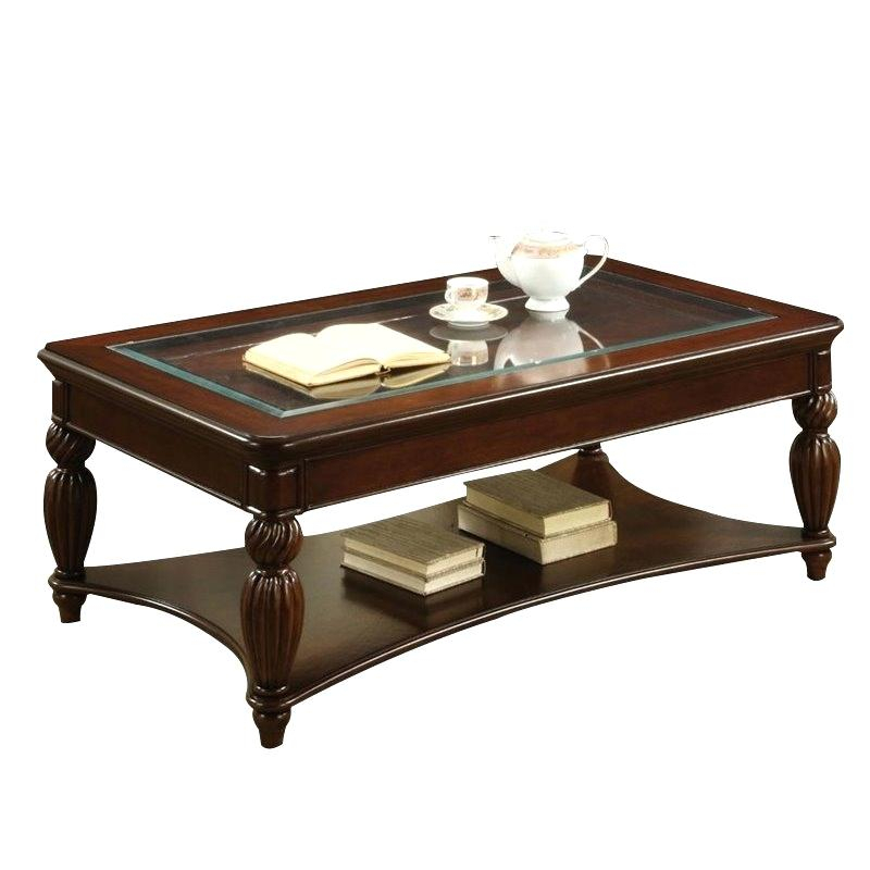 Dark Cherry Coffee Tables Table Set – Monteverest In Furniture Of America Crescent Dark Cherry Glass Top Oval Coffee Tables (Image 18 of 50)
