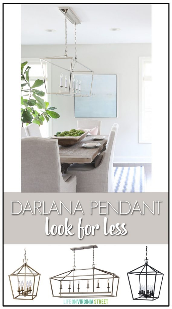 Darlana Pendant Light Copycat – Look For Less   Life On Intended For Carmen 6 Light Kitchen Island Linear Pendants (View 20 of 25)