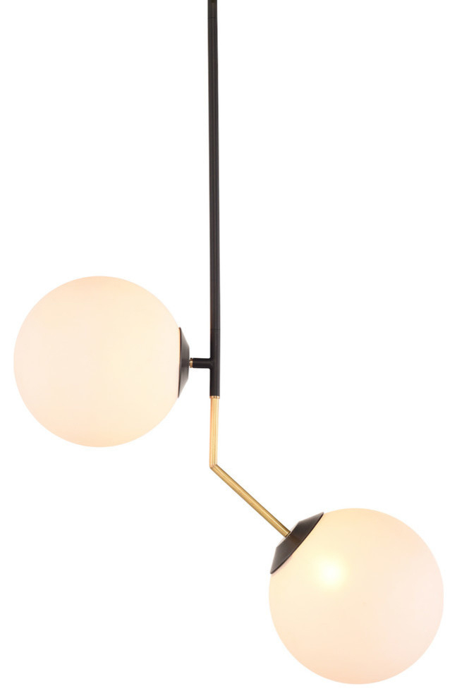 Declan Double Lamp Frosted White Glass Pendant Light Throughout Willems 1 Light Single Drum Pendants (Image 8 of 25)