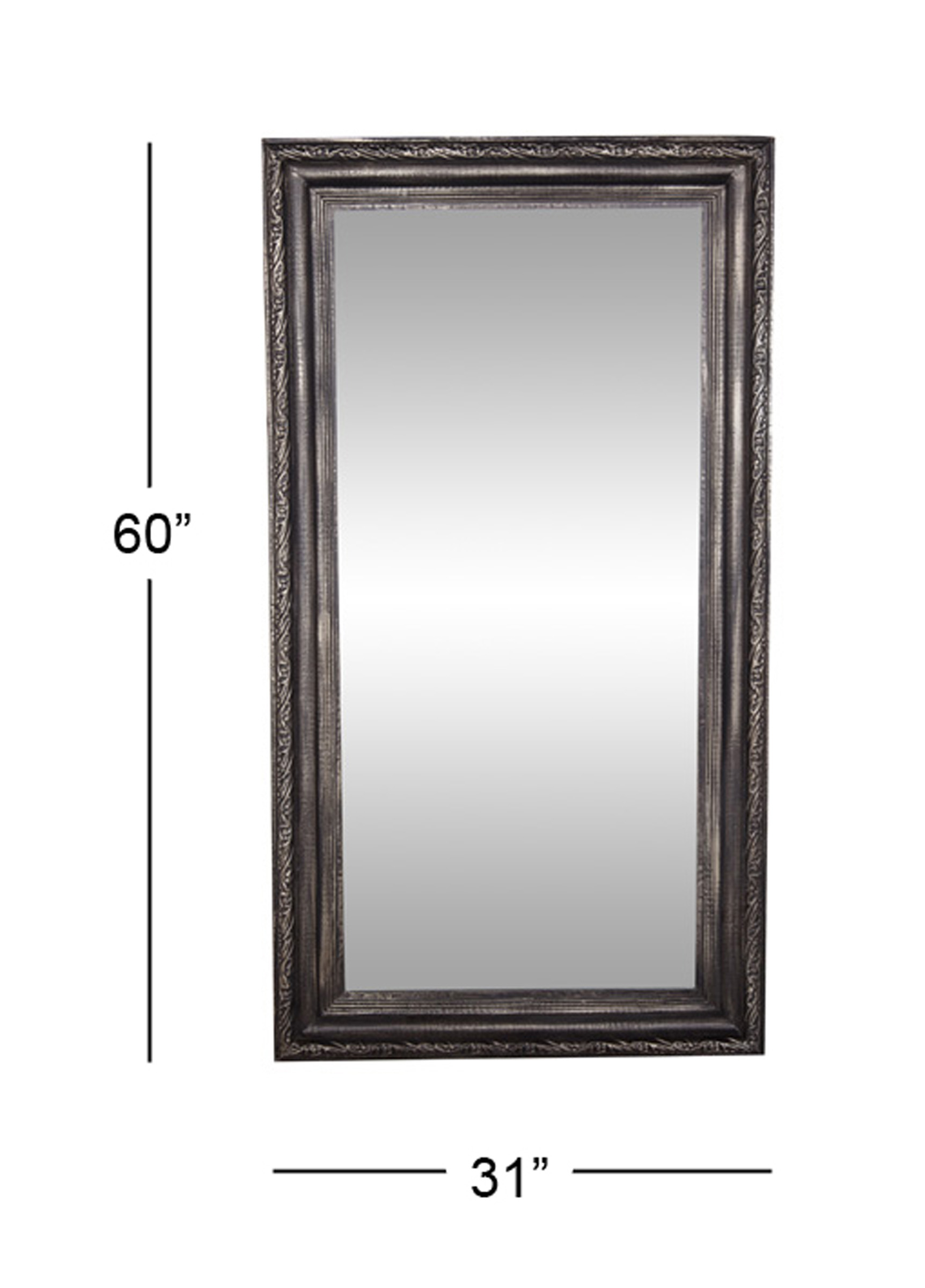 Decmode Traditional 60 X 32 Inch Black Wood And Metal Rectangular Wall  Mirror Within Traditional Metal Wall Mirrors (Image 2 of 20)