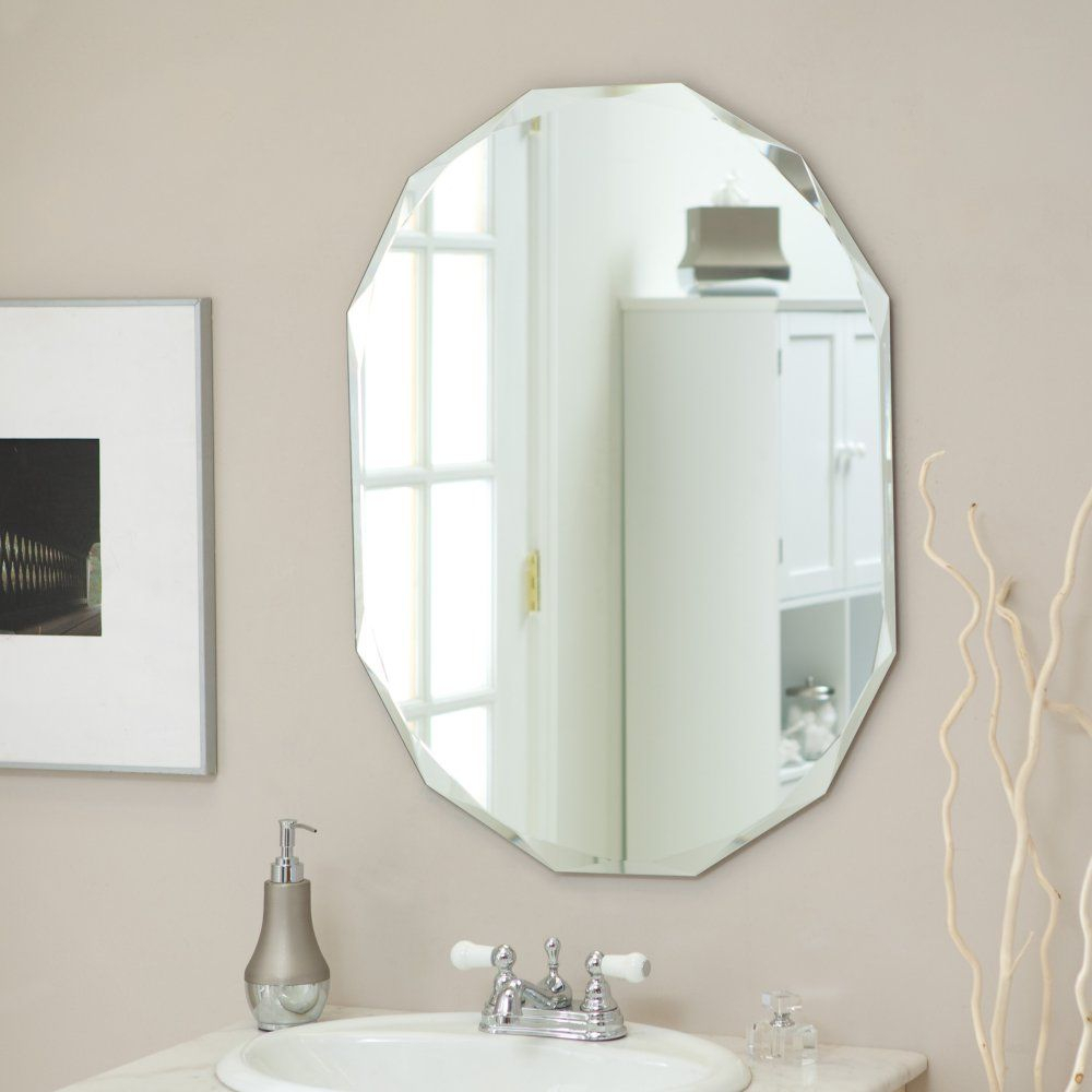Décor Wonderland Frameless Diamond Wall Mirror – (View 4 of 20)