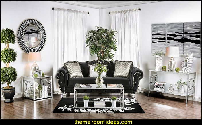 Decorating Theme Bedrooms – Maries Manor: Living Room For Mishie Contemporary Champagne 2 Piece Accent Tables Set By Foa (View 22 of 25)