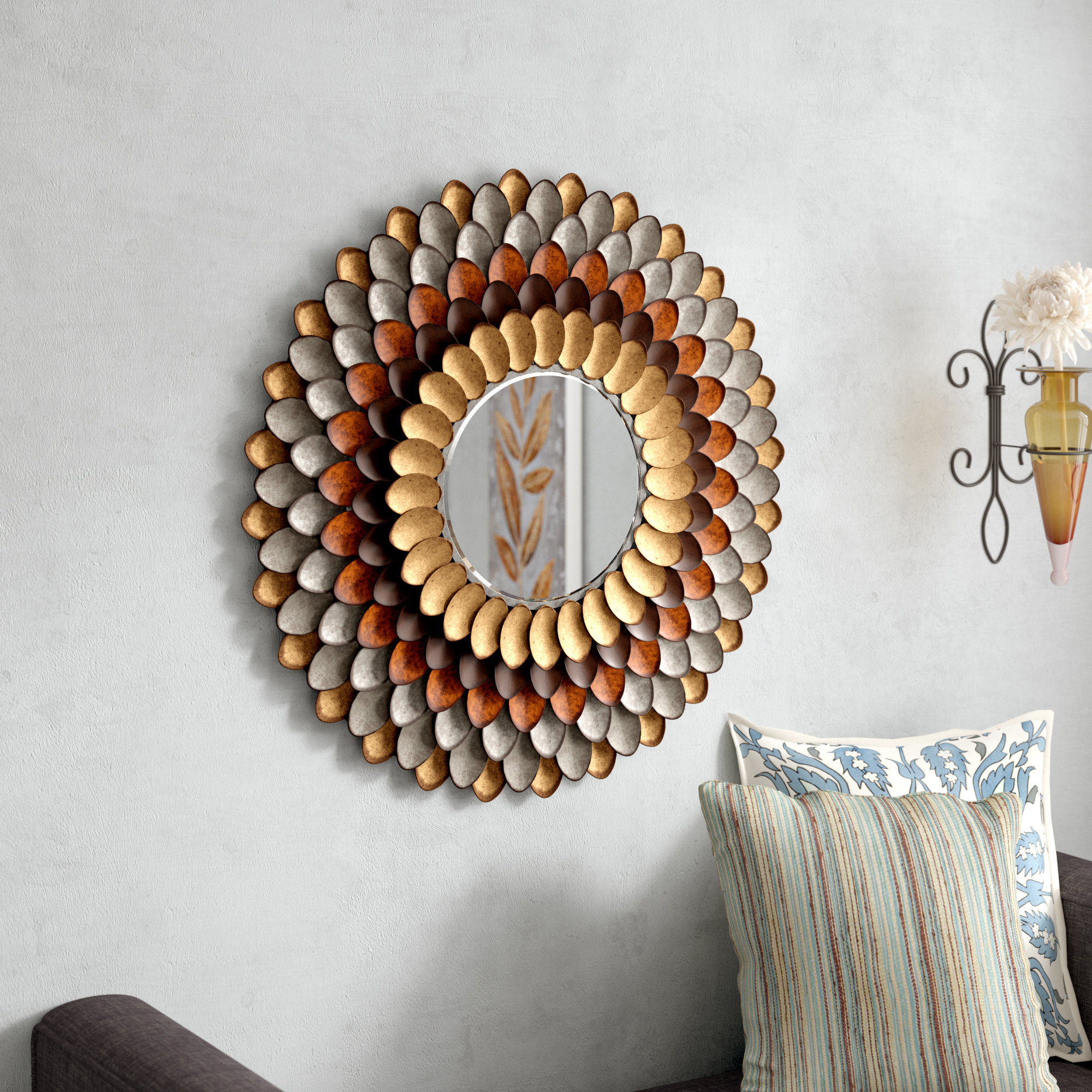 Decorative Round Wall Mirror For Decorative Round Wall Mirrors (View 4 of 20)