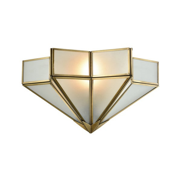 Decostar Brushed Brass Metal With Frosted Glass Shade 1 Light Wall Sconce With Barrons 1 Light Single Cylinder Pendants (View 23 of 25)