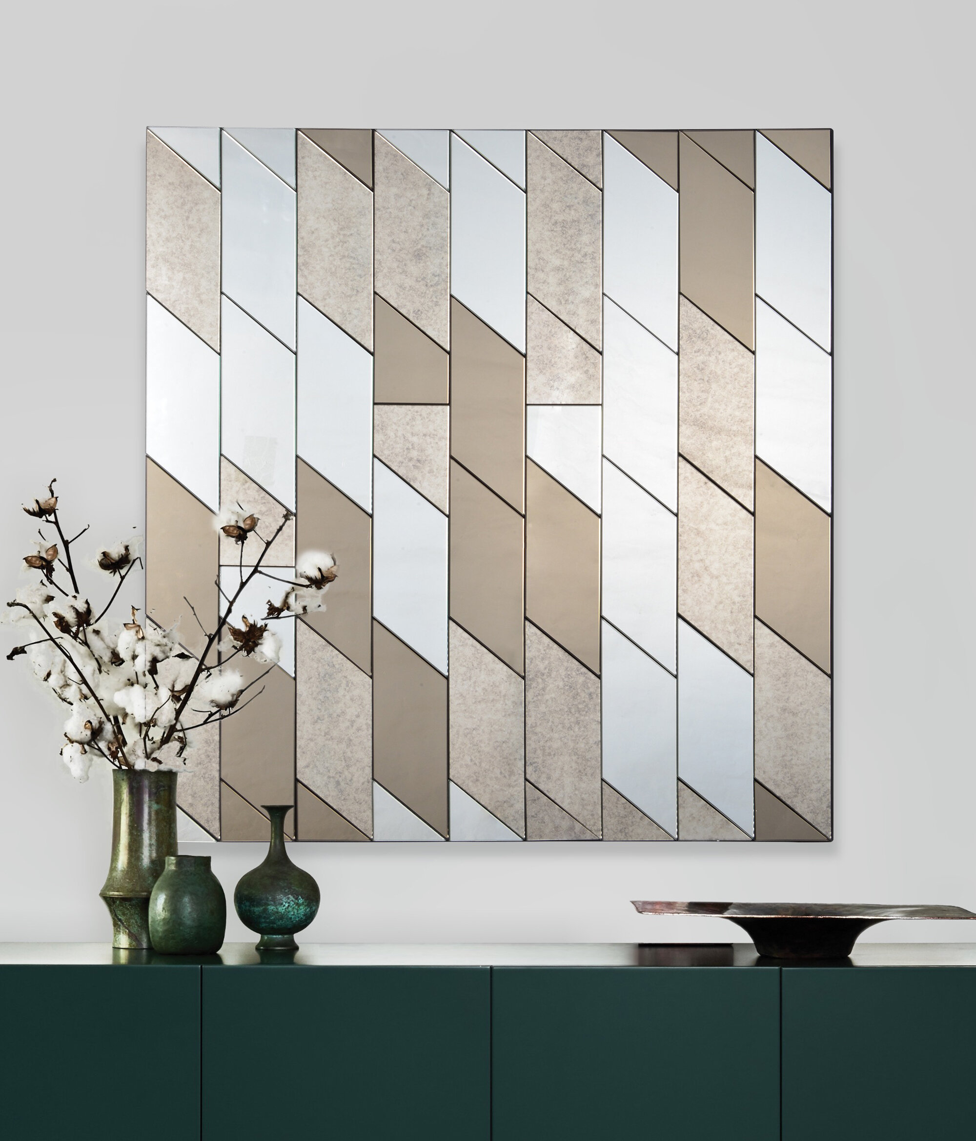 Dedmon Modern And Contemporary Frameless Accent Mirror Intended For Rena Accent Mirrors (Image 7 of 20)