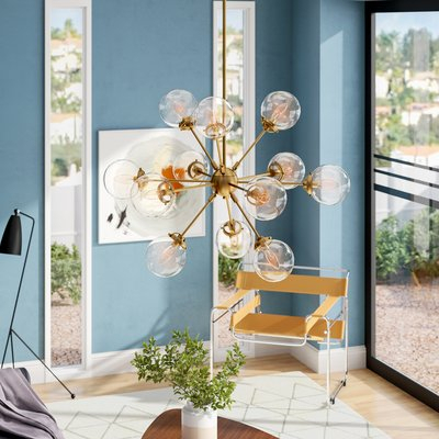 Defreitas 18 Light Sputnik Chandelier | Lamp | Sputnik Intended For Defreitas 18 Light Sputnik Chandeliers (Image 6 of 20)