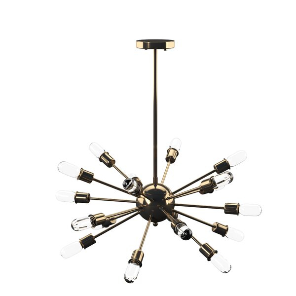 Defreitas 18 Light Sputnik Chandelier With Defreitas 18 Light Sputnik Chandeliers (Image 11 of 20)