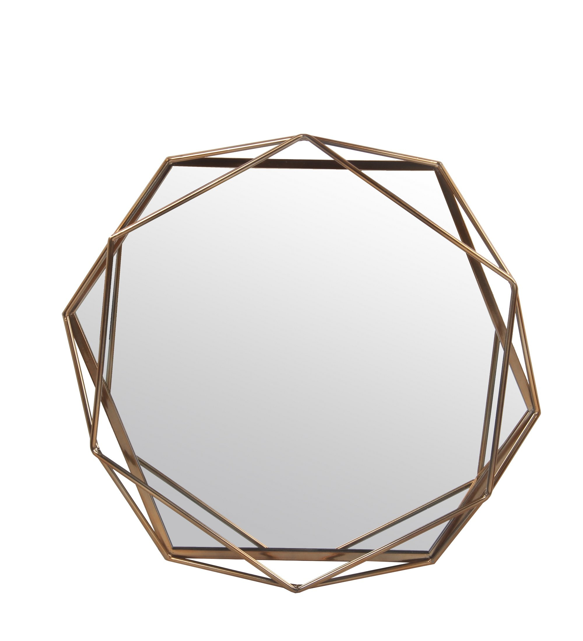 Dekalb Modern & Contemporary Distressed Accent Mirror Intended For Gia Hexagon Accent Mirrors (Image 5 of 20)