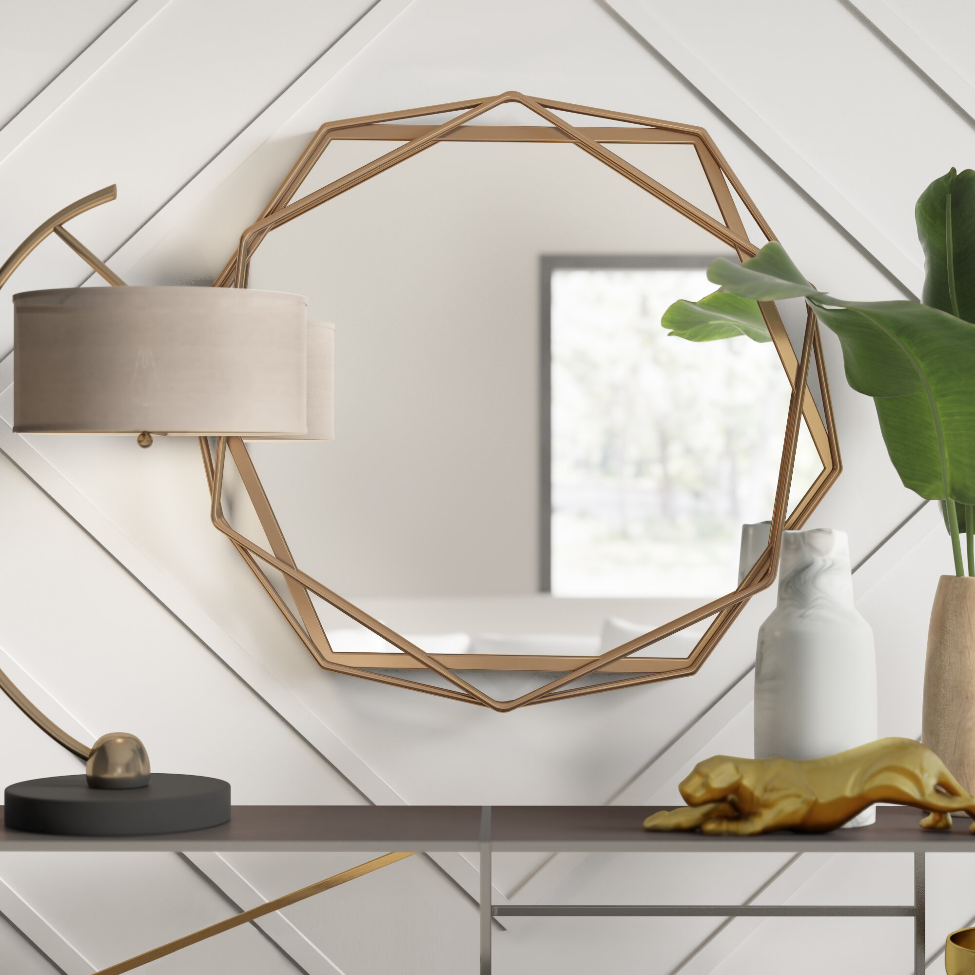 Featured Image of Dekalb Modern & Contemporary Distressed Accent Mirrors
