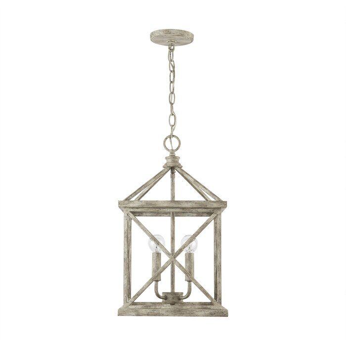 Dellwood 4 Light Lantern Rectangle Pendant In Finnick 1 Light Geometric Pendants (View 16 of 25)
