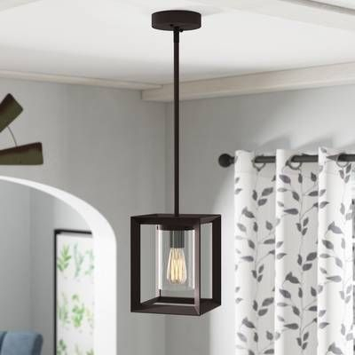 Delon 1 Light Lantern Geometric Pendant In 2019 | Architect Throughout Delon 1 Light Lantern Geometric Pendants (Image 2 of 20)