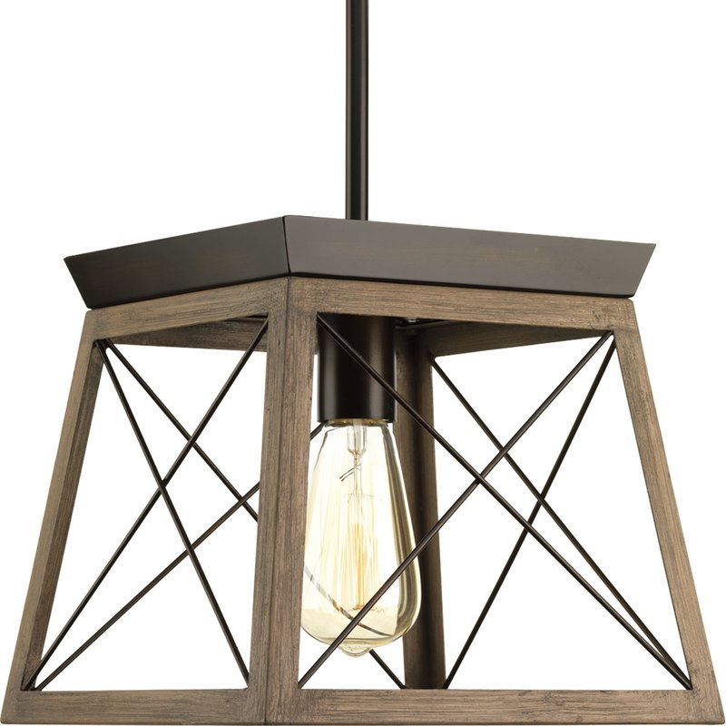 Delon 1 Light Lantern Geometric Pendant With Delon 1 Light Lantern Geometric Pendants (Image 6 of 20)