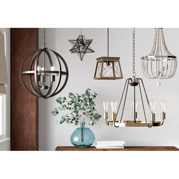 Delon 1 Light Lantern Geometric Pendant With Regard To Delon 1 Light Lantern Geometric Pendants (Image 9 of 20)