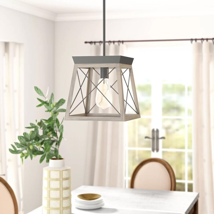 Delon 1 Light Lantern Geometric Pendant With Regard To Delon 1 Light Lantern Geometric Pendants (Image 8 of 20)