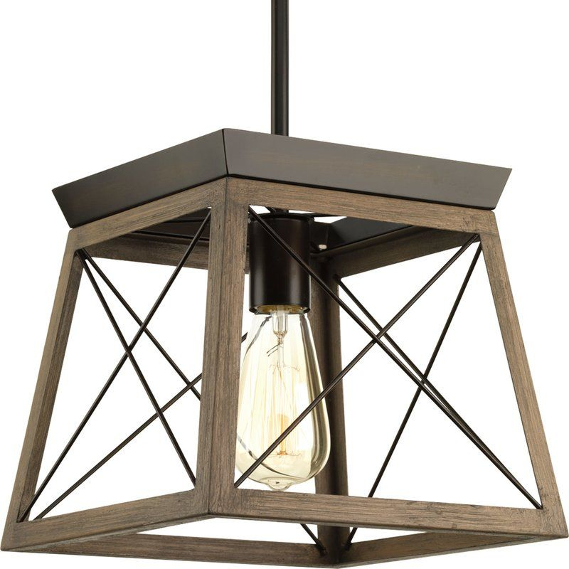 Delon 1 Light Lantern Pendant In 2019 | Lighting | Pendant Regarding Delon 1 Light Lantern Geometric Pendants (Image 13 of 20)