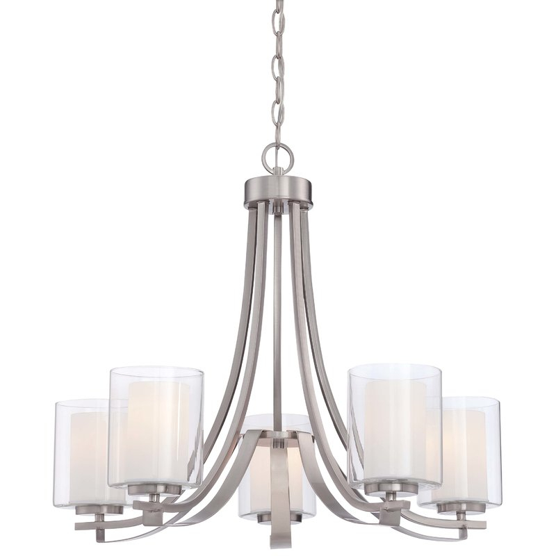 Demby 5 Light Shaded Chandelier Pertaining To Hayden 5 Light Shaded Chandeliers (Image 6 of 20)