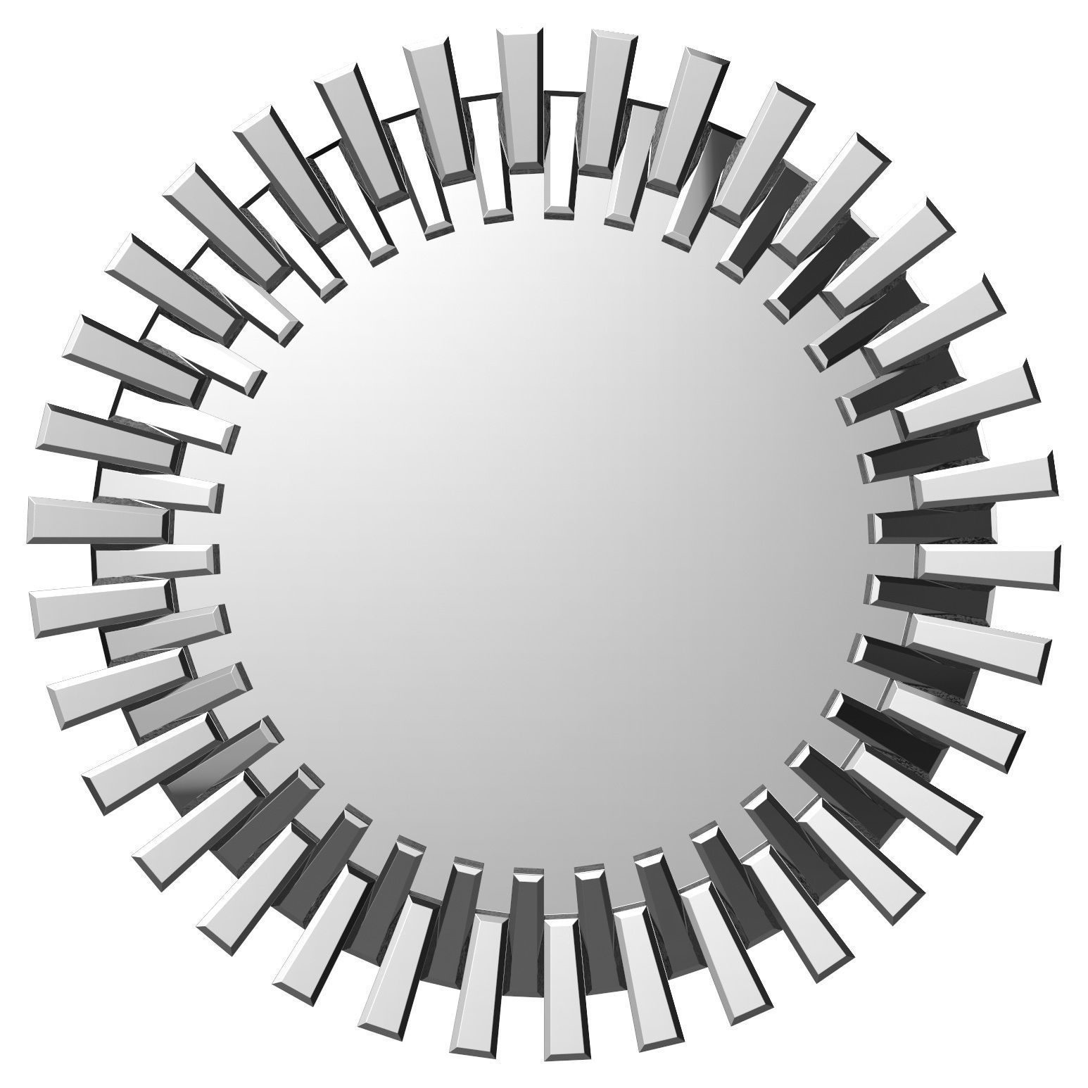 Deniece Sunburst Round Wall Mirror Wrlo7344 | 3D Model For Kentwood Round Wall Mirrors (View 14 of 20)