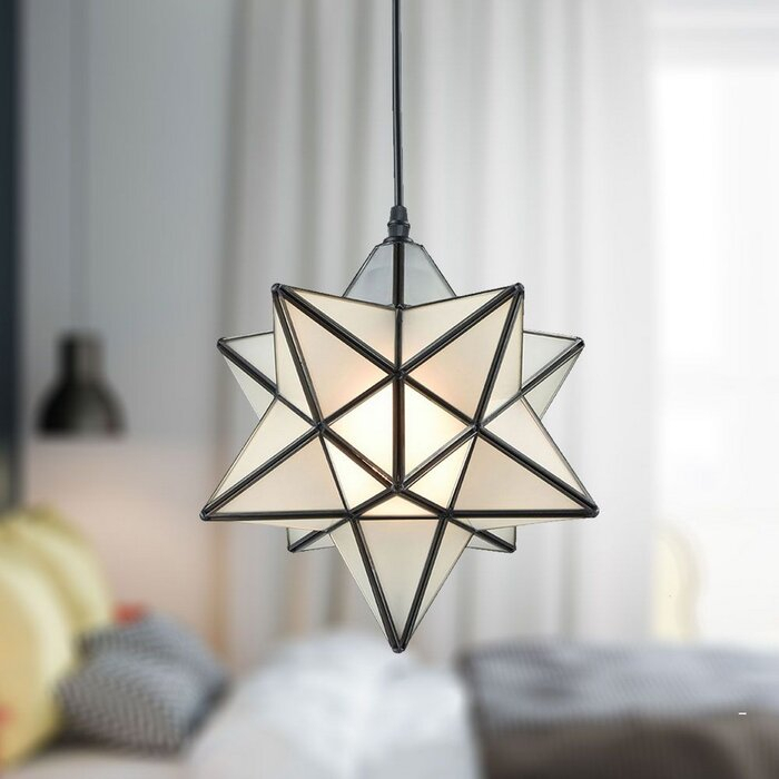 Denzel 1 Light Single Star Pendant In 1 Light Single Star Pendants (Image 17 of 25)