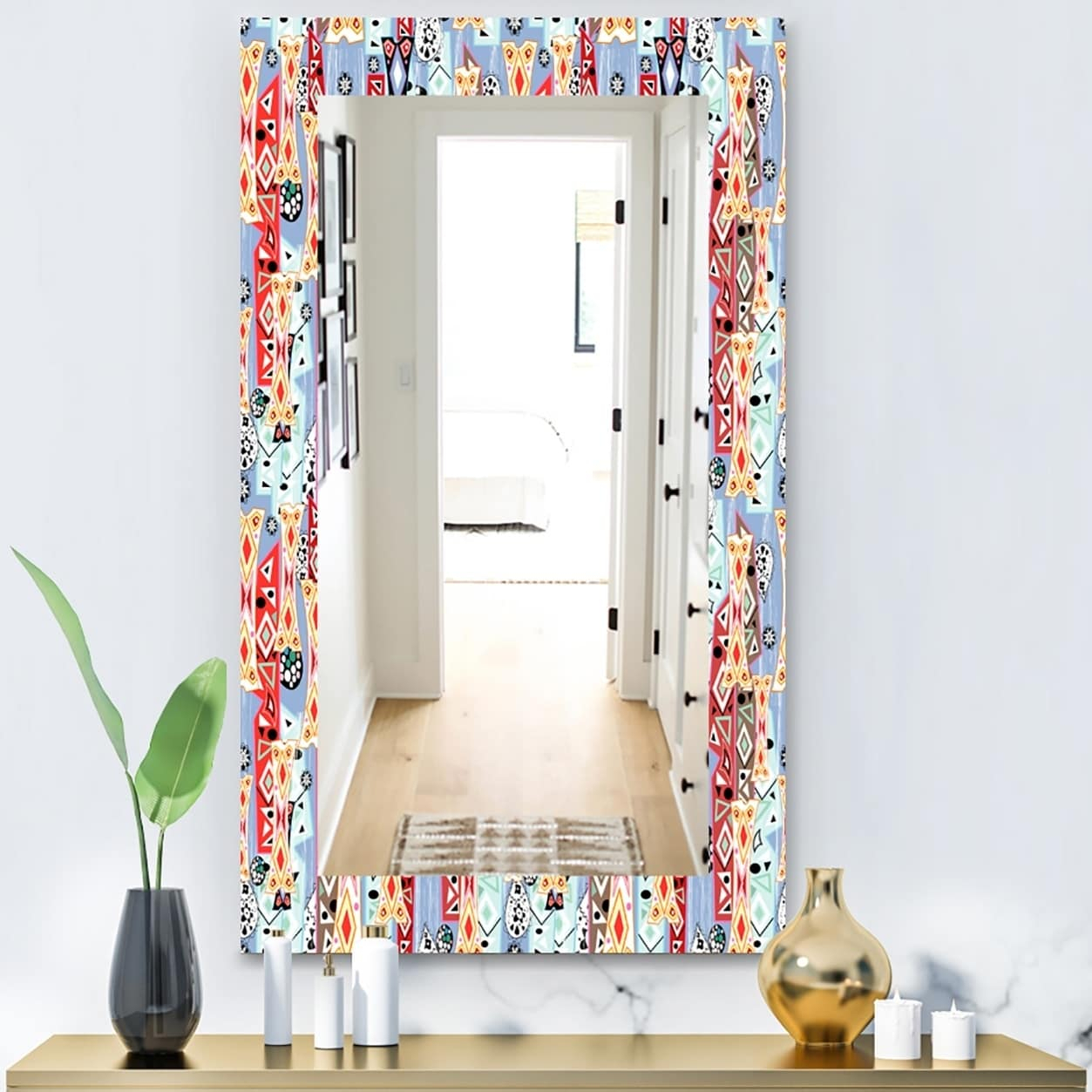 Designart 'abstract Pattern' Modern Mirror – Wall Mirror For Sartain Modern & Contemporary Wall Mirrors (View 13 of 20)