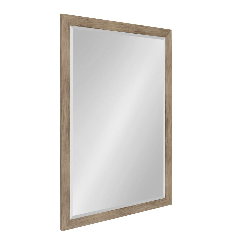 Designovation Beatrice Rectangle Rustic Brown Accent Mirror Pertaining To Rectangle Accent Mirrors (View 12 of 20)