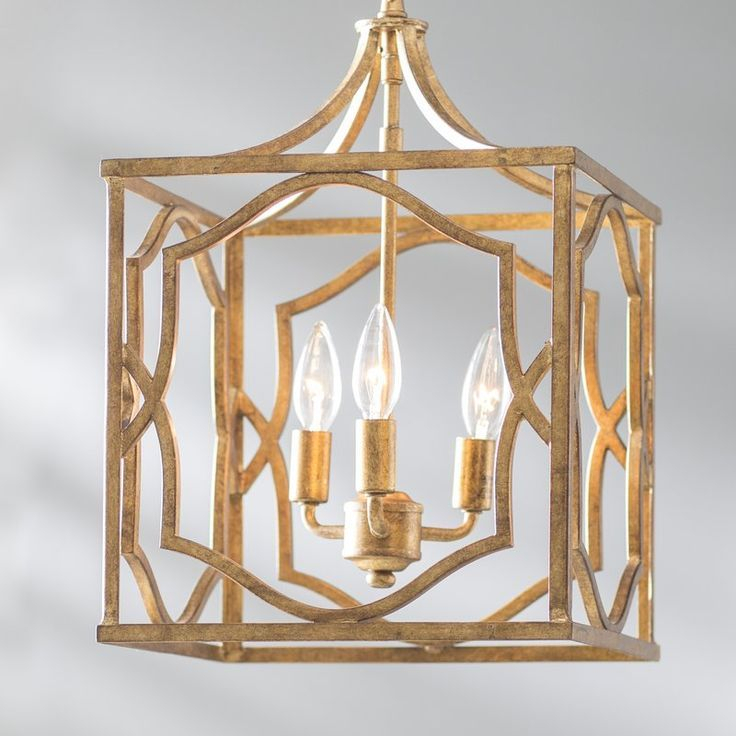 Destrey 3 Light Lantern Square/rectangle Pendant | Lighting For Destrey 3 Light Lantern Square/rectangle Pendants (View 4 of 20)