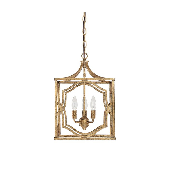 Destrey 3 Light Lantern Square/rectangle Pendant Pertaining To Destrey 3 Light Lantern Square/rectangle Pendants (View 3 of 20)