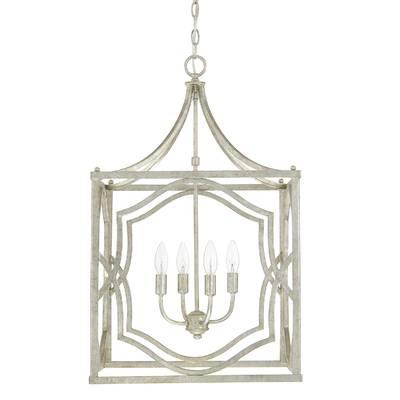 Destrey 3 Light Lantern Square/rectangle Pendant Throughout Taya 4 Light Lantern Square Pendants (View 10 of 20)