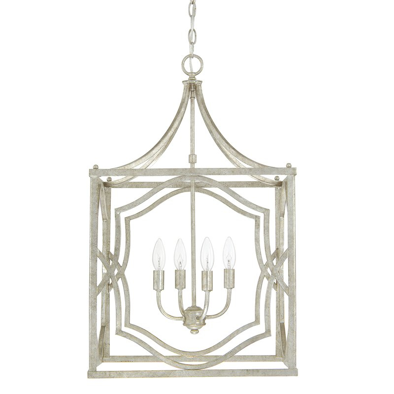 Destrey 4 Light Lantern Pendant With Regard To Destrey 3 Light Lantern Square/rectangle Pendants (View 10 of 20)