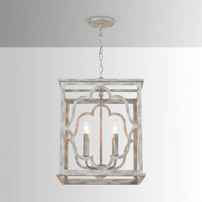 Destrey 4 Light Lantern Pendant Within Destrey 3 Light Lantern Square/rectangle Pendants (View 20 of 20)