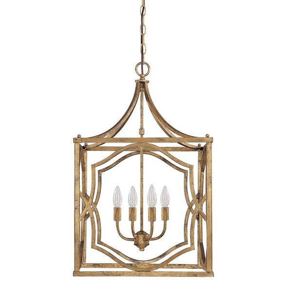 Destrey 4 Light Lantern Square / Rectangle Pendant In Taya 4 Light Lantern Square Pendants (View 7 of 20)