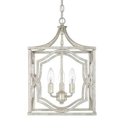Destrey 4 Light Lantern Square / Rectangle Pendant Intended For Taya 4 Light Lantern Square Pendants (View 5 of 20)