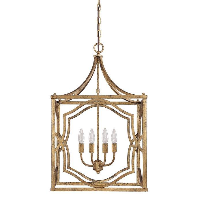 Destrey 4 Light Lantern Square / Rectangle Pendant Pertaining To Taya 4 Light Lantern Square Pendants (View 14 of 20)