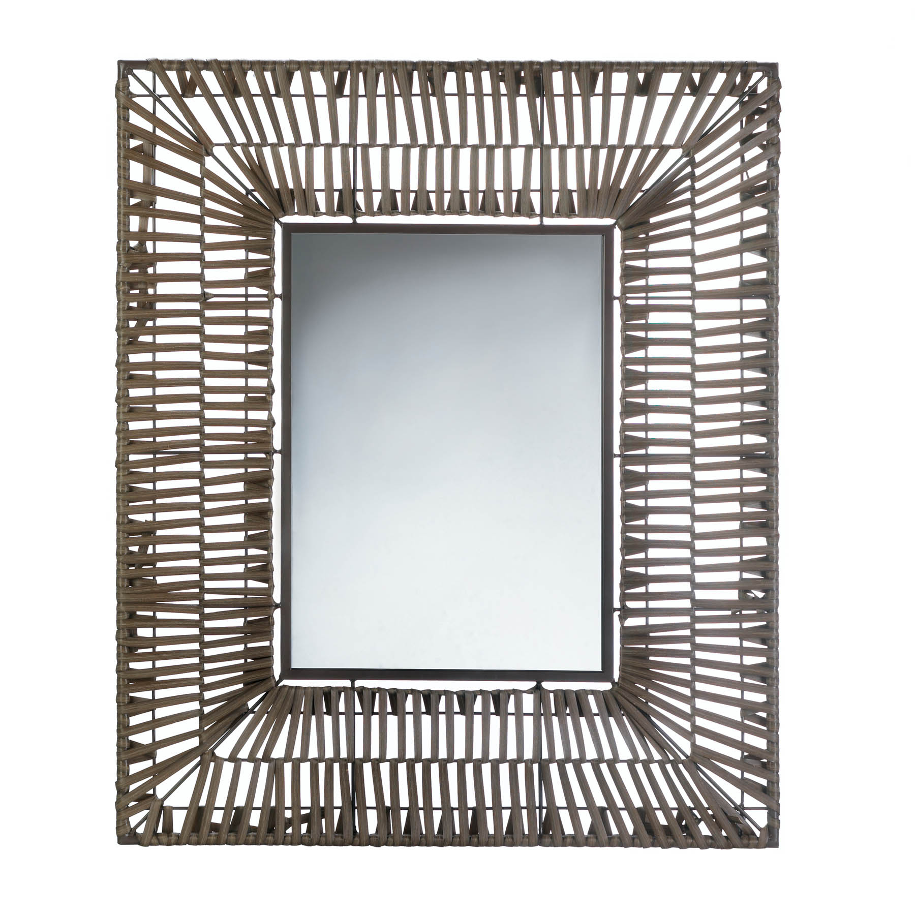 Details About Accent Plus – Faux Rattan Rectangular Wall Mirror Throughout Rectangle Accent Wall Mirrors (View 20 of 20)