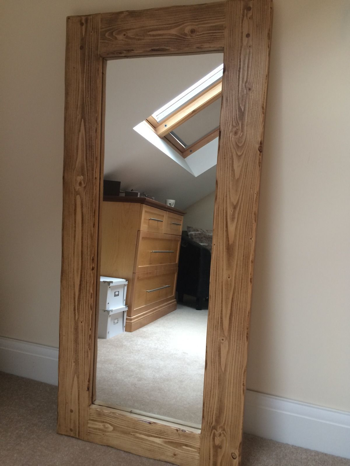 Details About *beautiful Quality Handmade Chunky Rustic Full With Regard To Handcrafted Farmhouse Full Length Mirrors (Image 5 of 20)