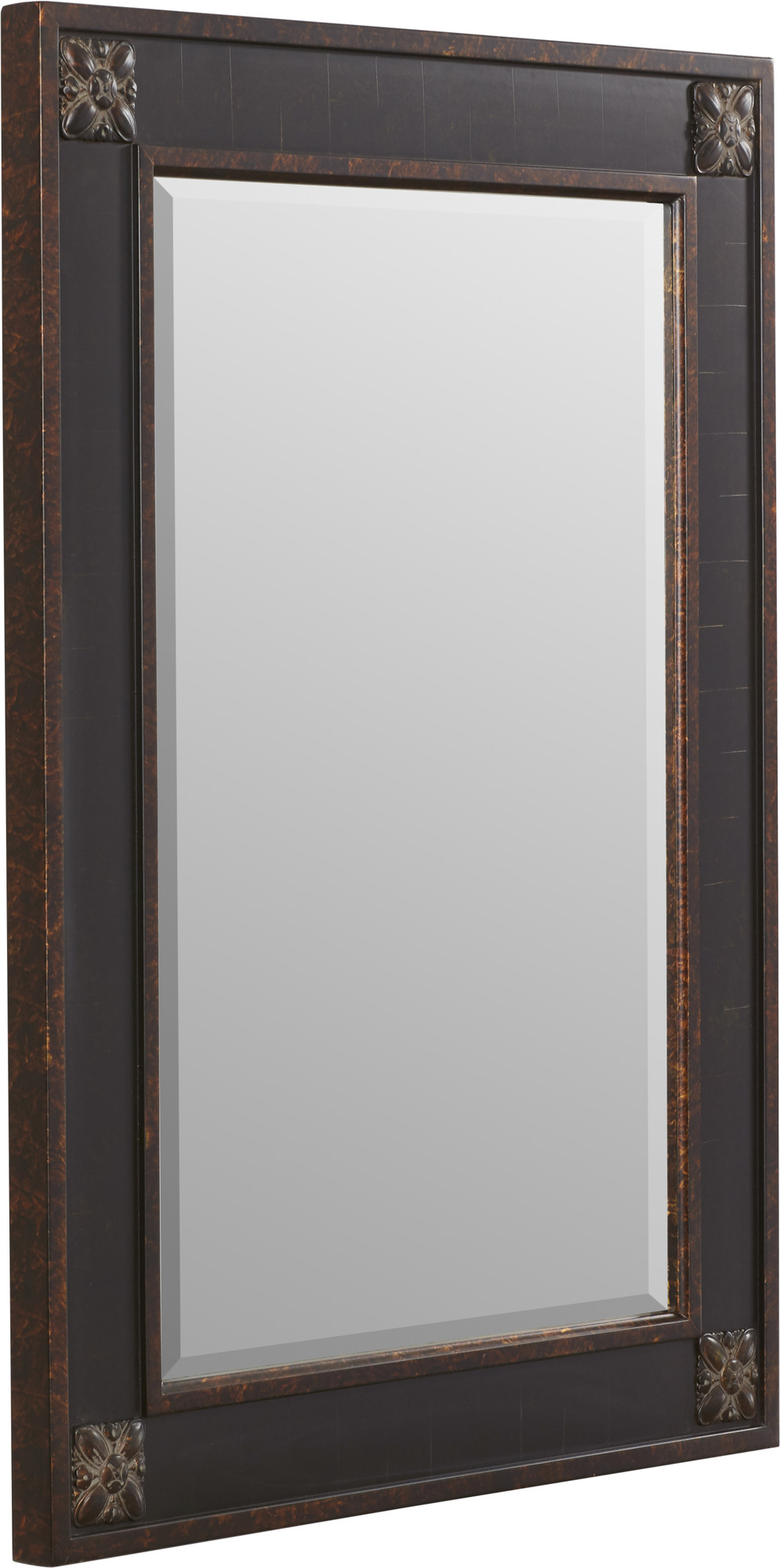 Details About Fleur De Lis Living Kristy Rectangular Beveled Vanity Mirror  In Distressed With Kristy Rectangular Beveled Vanity Mirrors In Distressed (Image 8 of 20)