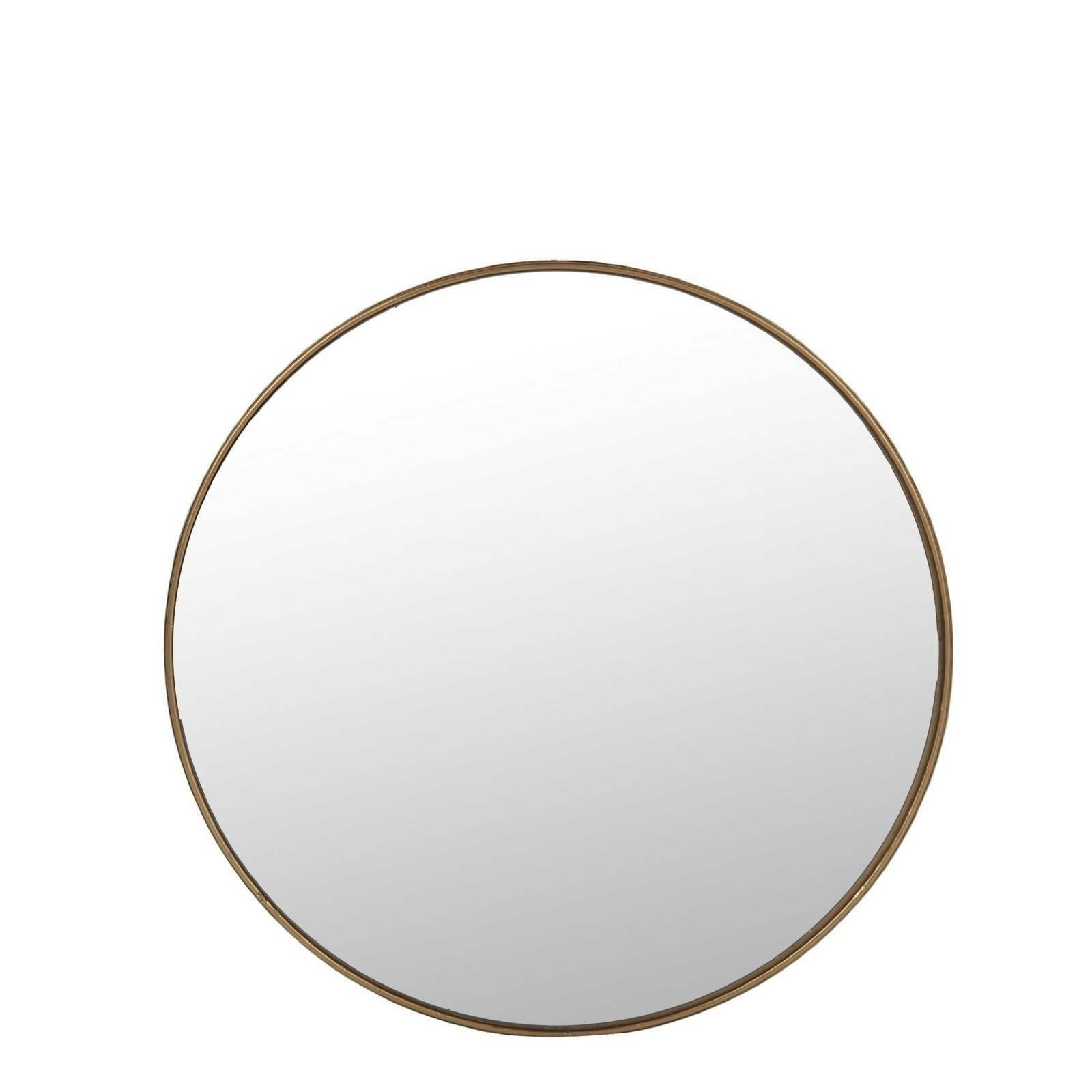 Details About Large Round Wall Mirror Gold Frame Wall Mounted Vertical  Orientation 15'' 32'' H With Regard To Vertical Round Wall Mirrors (Image 9 of 20)