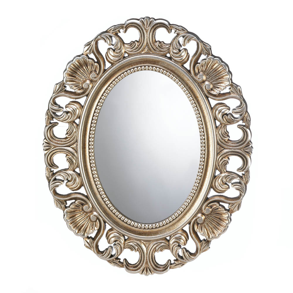Details About Wall Mirrors For Girls, Gold Framed Round Wall Mirrors Decorative Large Inside Decorative Round Wall Mirrors (View 2 of 20)