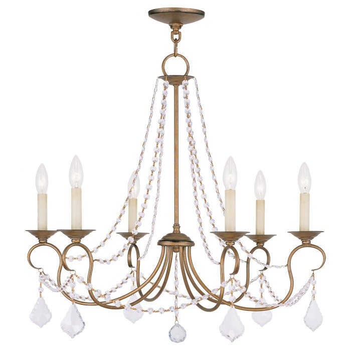Devana 6 Light Candle Style Chandelier Inside Bouchette Traditional 6 Light Candle Style Chandeliers (View 11 of 20)