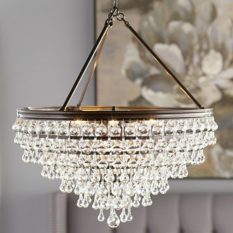 Devanna 8 Light Crystal Chandelier In Ladonna 5 Light Novelty Chandeliers (View 15 of 20)