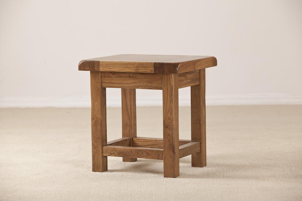 Devonshire Rustic Oak Lamp Side Table For Rustic Oak Coffee Tables (Image 6 of 25)